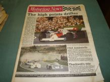 MOTORING NEWS 1984 July 25 British GP, Thundersports, F2,BTCC, Rallying